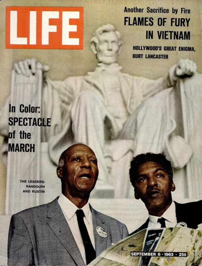 Bayard Rustin (right) with A. Phillip Randolph on the cover of Life magazine, September 6, 1963